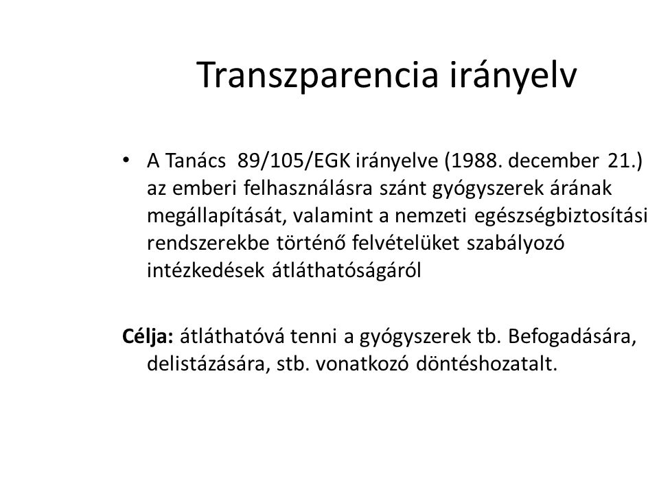 Transzparencia irányelv