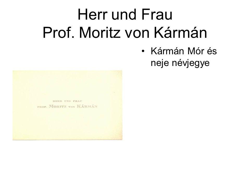 Herr und Frau Prof. Moritz von Kármán
