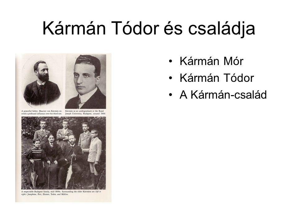 Kármán Tódor és családja