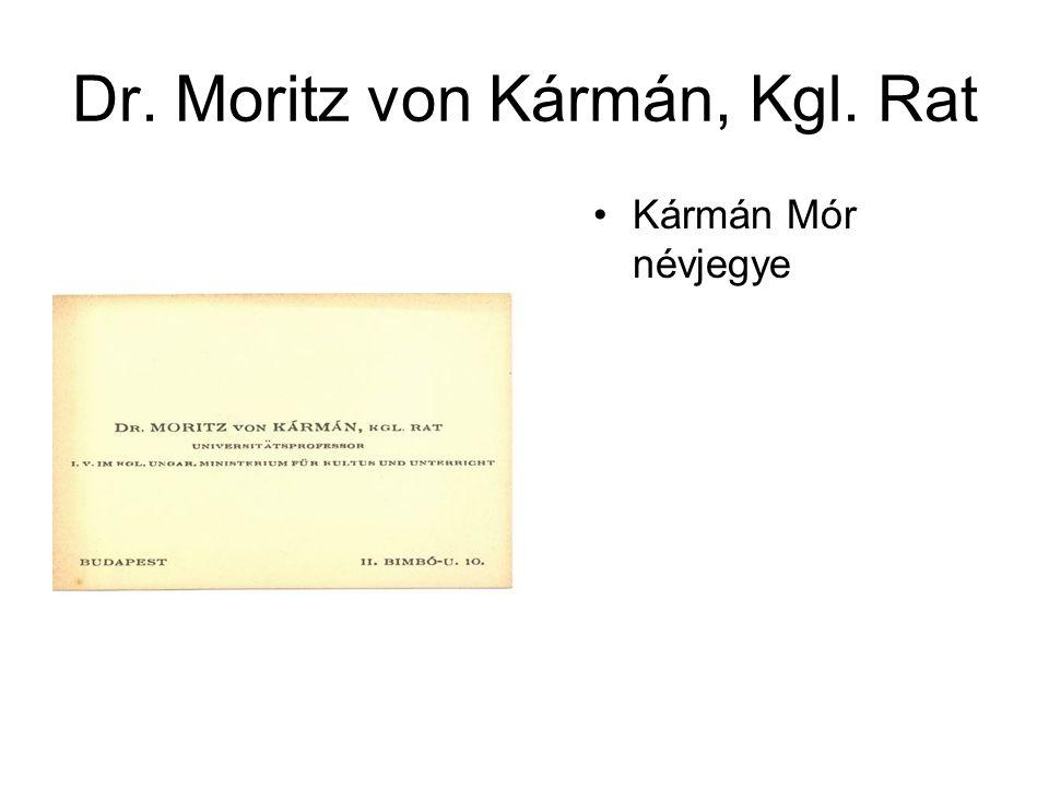 Dr. Moritz von Kármán, Kgl. Rat
