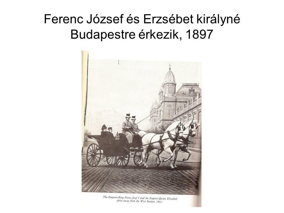 Ferenc József és Erzsébet királyné Budapestre érkezik, 1897