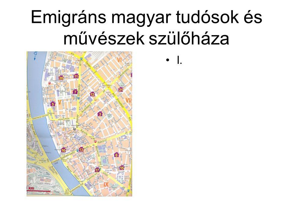 Emigráns magyar tudósok és művészek szülőháza