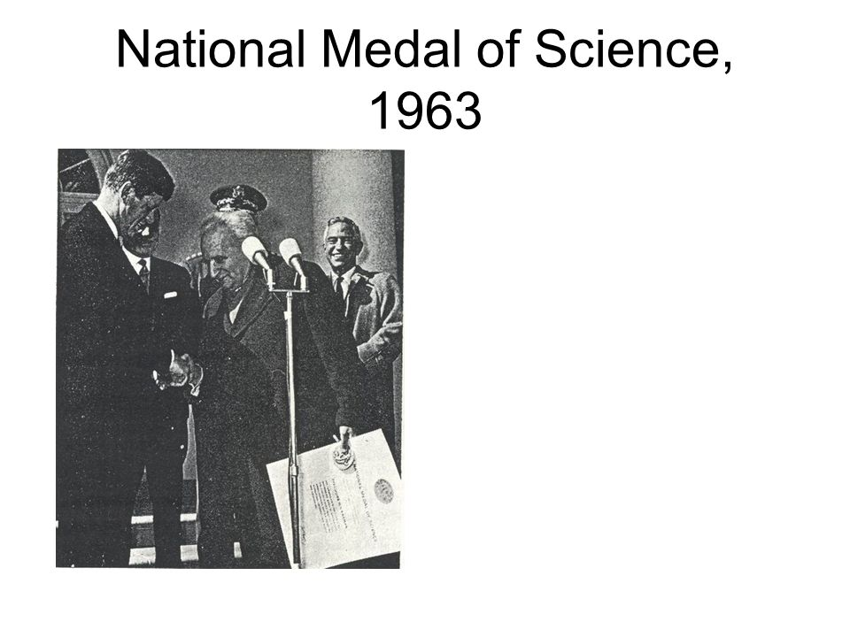 National Medal of Science, 1963