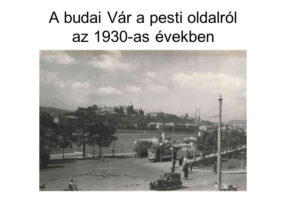 A budai Vár a pesti oldalról az 1930-as években