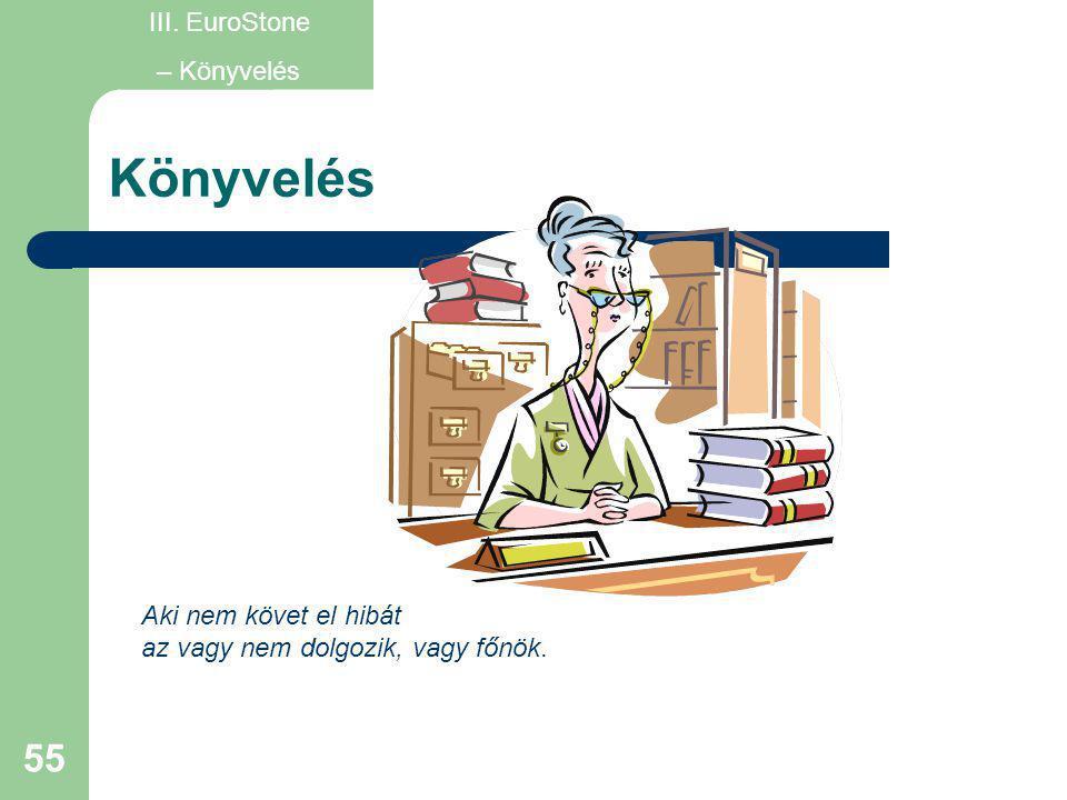 Könyvelés III. EuroStone – Könyvelés Aki nem követ el hibát