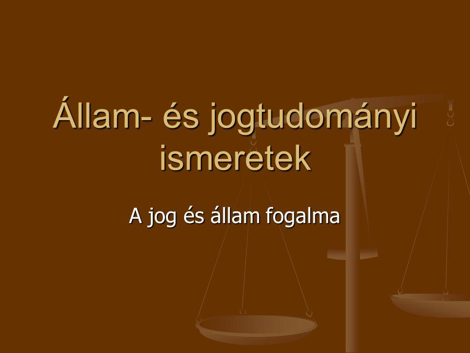 Állam- és jogtudományi ismeretek