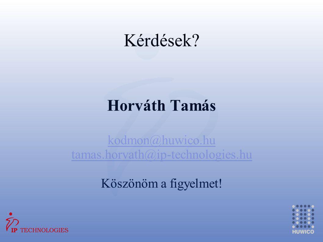Kérdések Horváth Tamás kodmon@huwico.hu