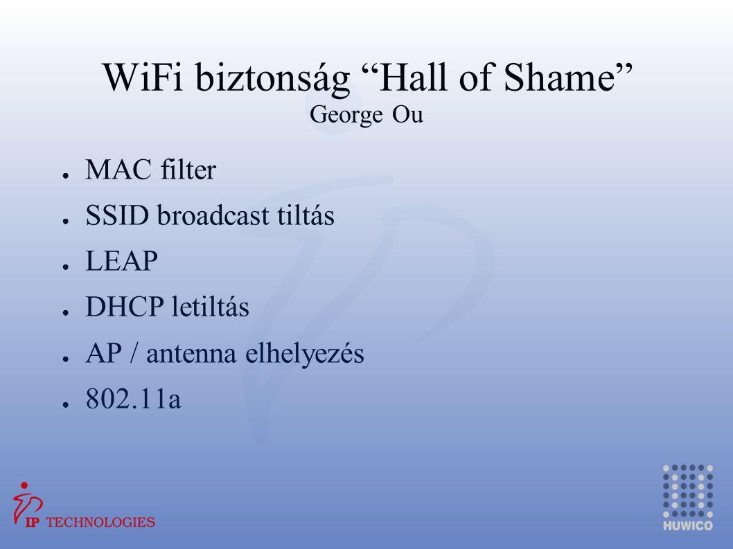 WiFi biztonság Hall of Shame George Ou