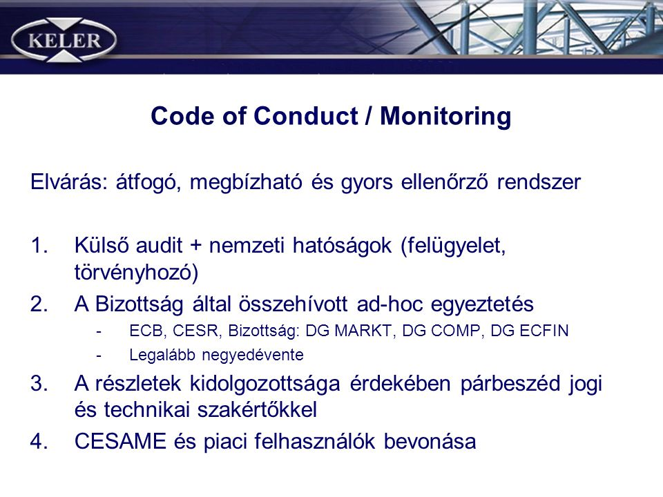 Code of Conduct / Monitoring
