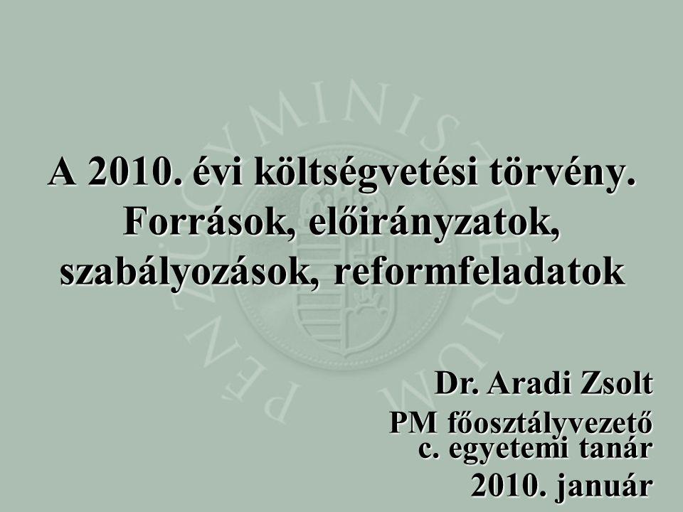 A 2010. évi költségvetési törvény