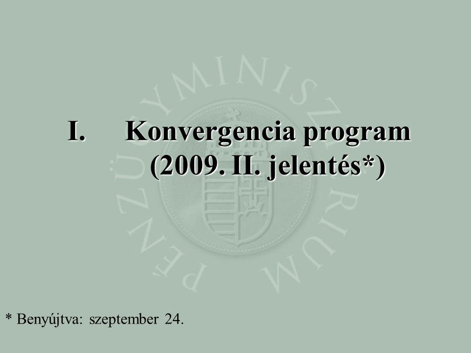 Konvergencia program (2009. II. jelentés*)