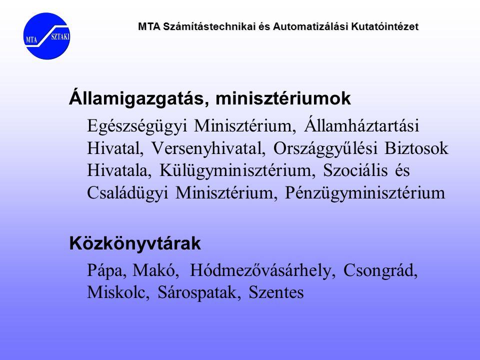 Államigazgatás, minisztériumok