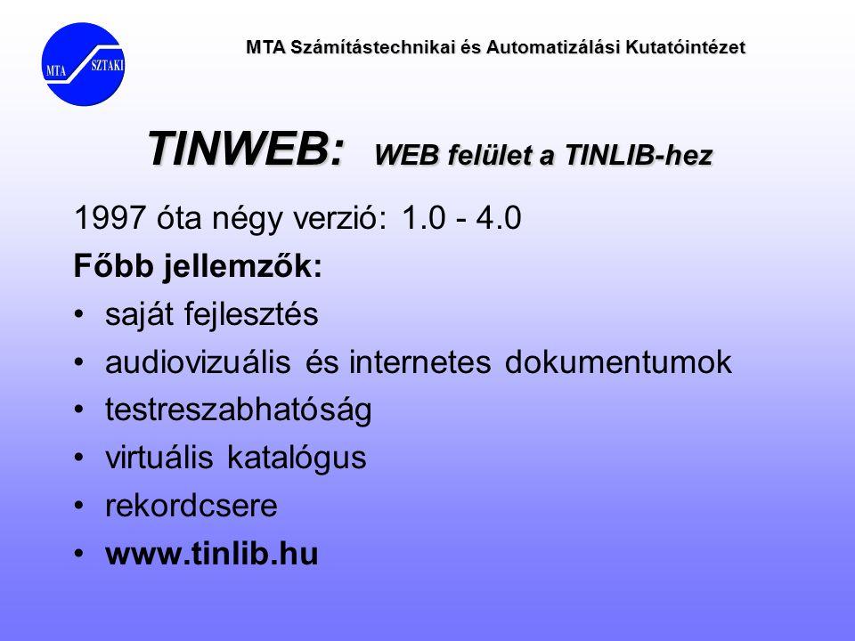 TINWEB: WEB felület a TINLIB-hez