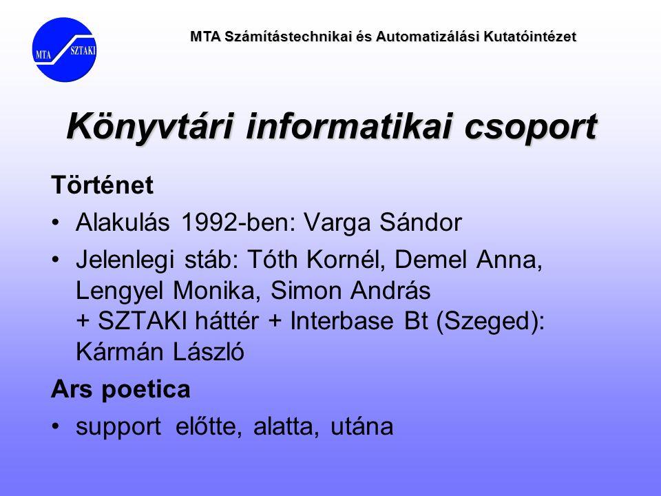 Könyvtári informatikai csoport