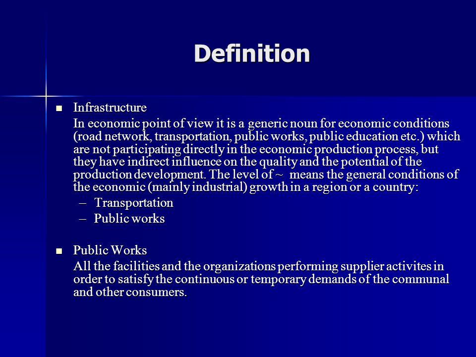 Definition Infrastructure