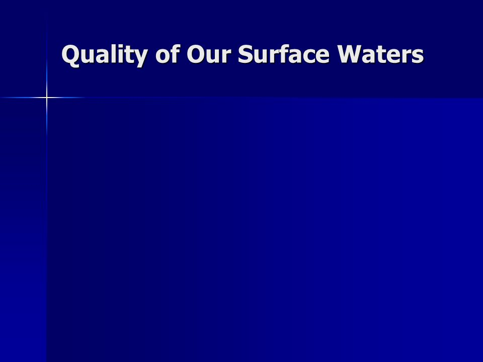 Quality of Our Surface Waters