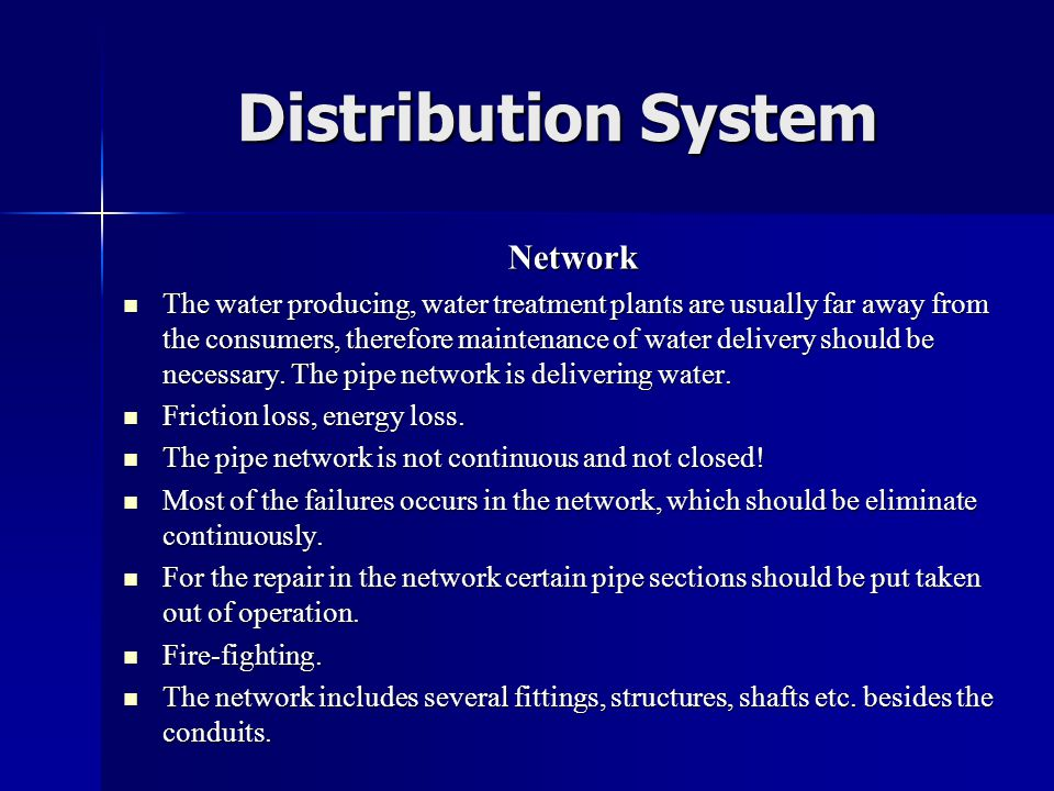 Distribution System Network