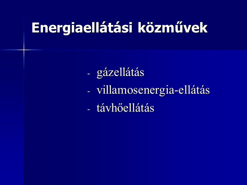 Energiaellátási közművek