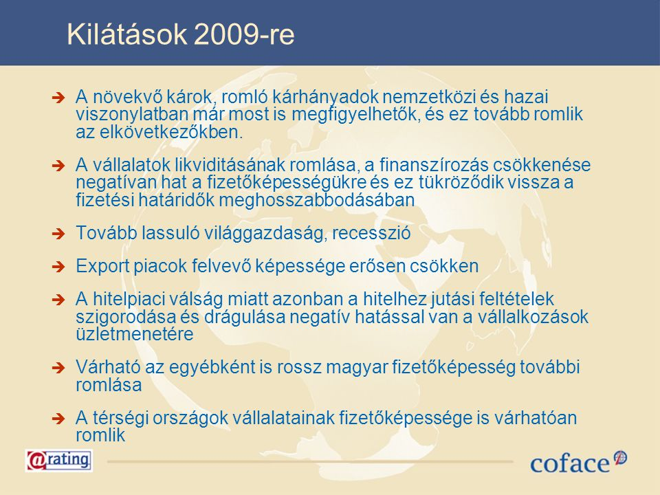 Kilátások 2009-re