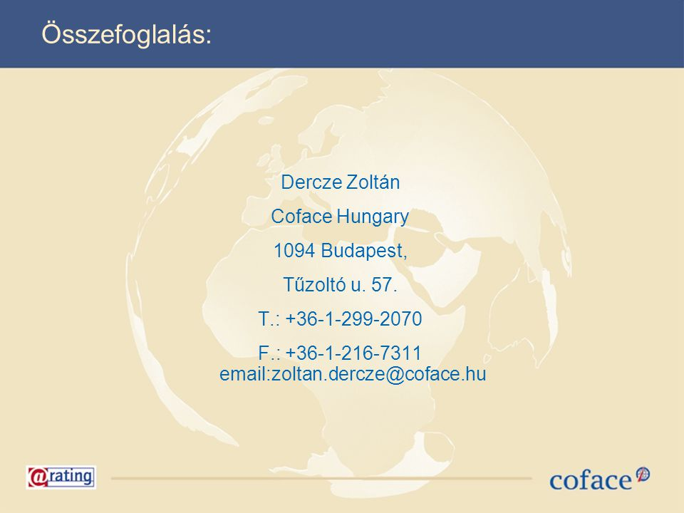 F.: +36-1-216-7311 email:zoltan.dercze@coface.hu