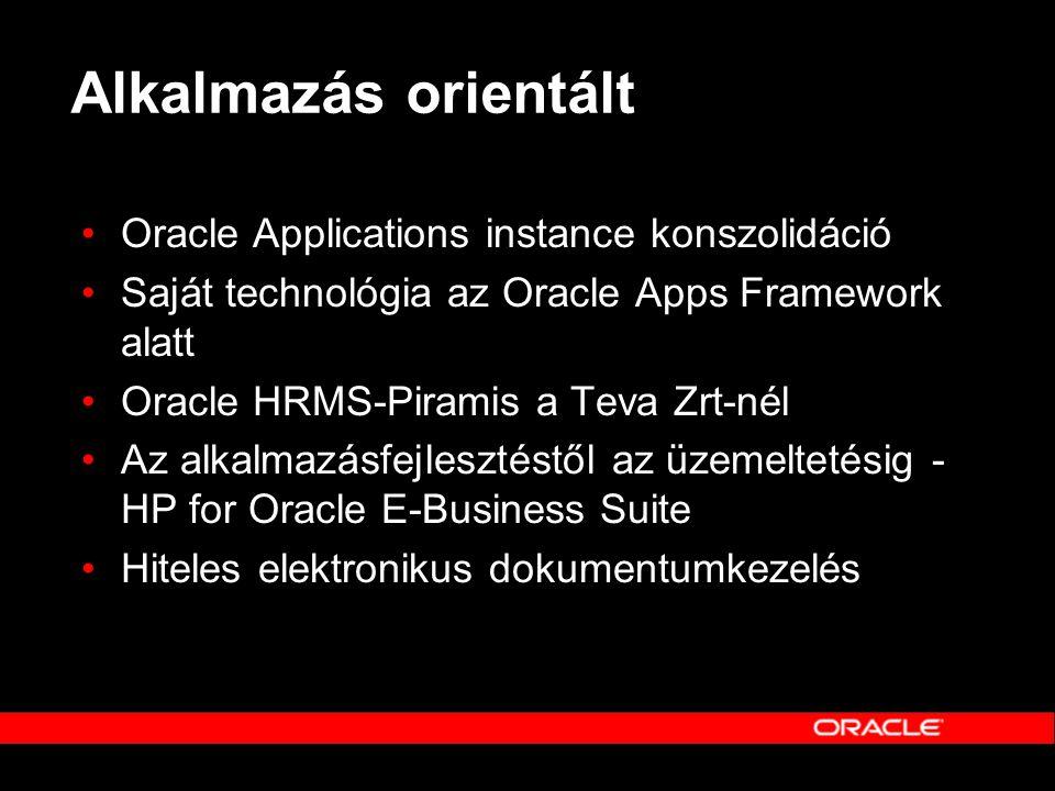 Alkalmazás orientált Oracle Applications instance konszolidáció