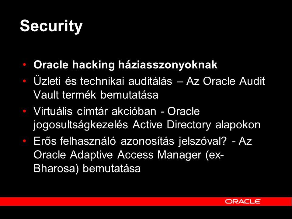 Security Oracle hacking háziasszonyoknak