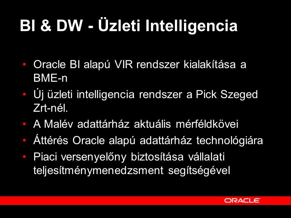 BI & DW - Üzleti Intelligencia