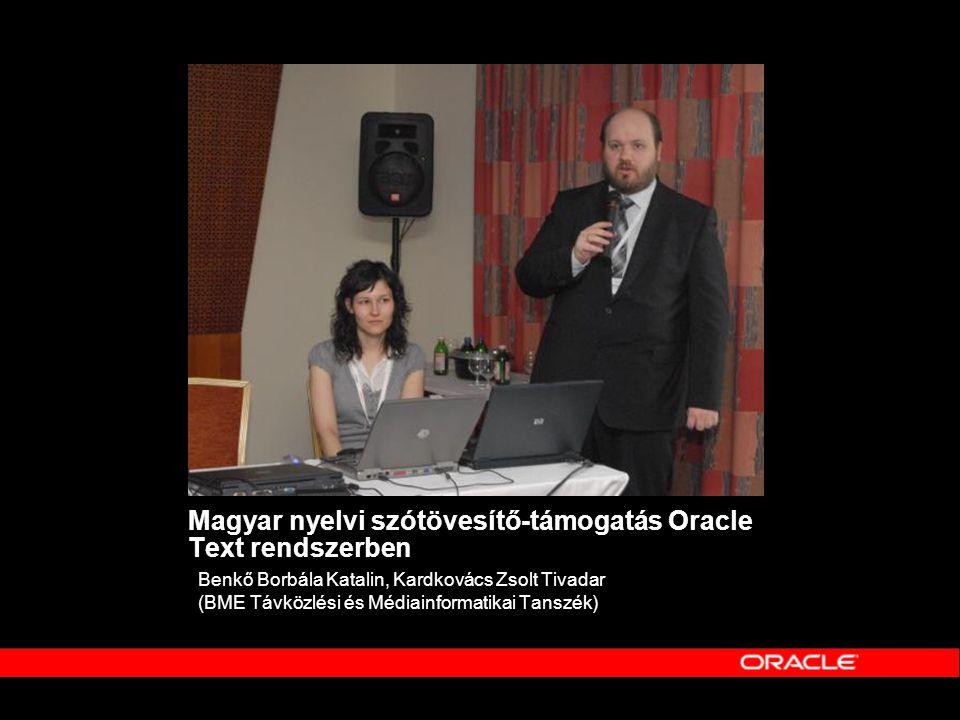 Magyar nyelvi szótövesítő-támogatás Oracle Text rendszerben