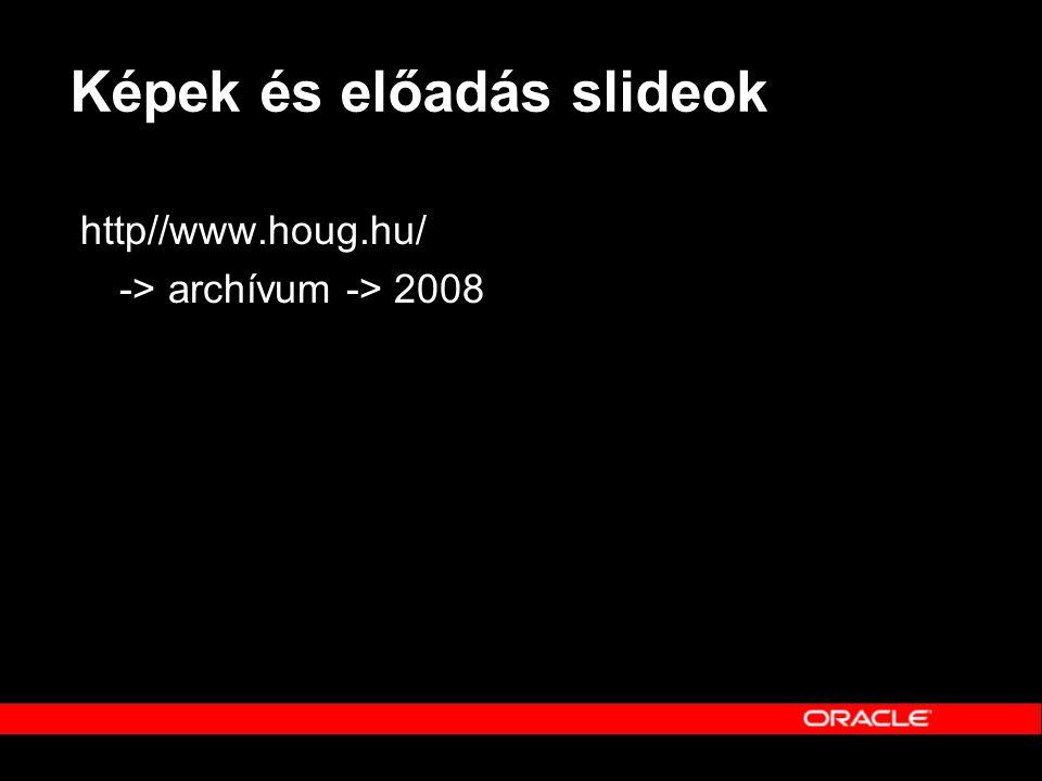 Képek és előadás slideok