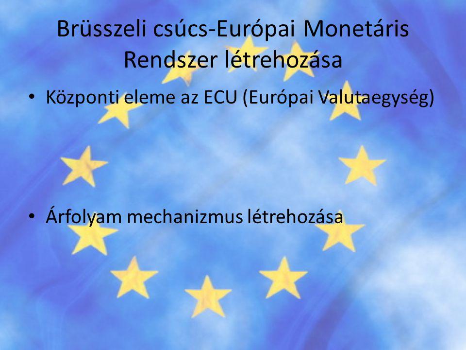 Brüsszeli csúcs-Európai Monetáris Rendszer létrehozása
