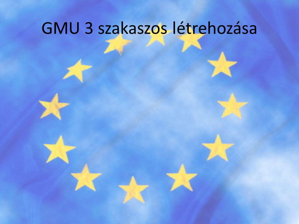 GMU 3 szakaszos létrehozása