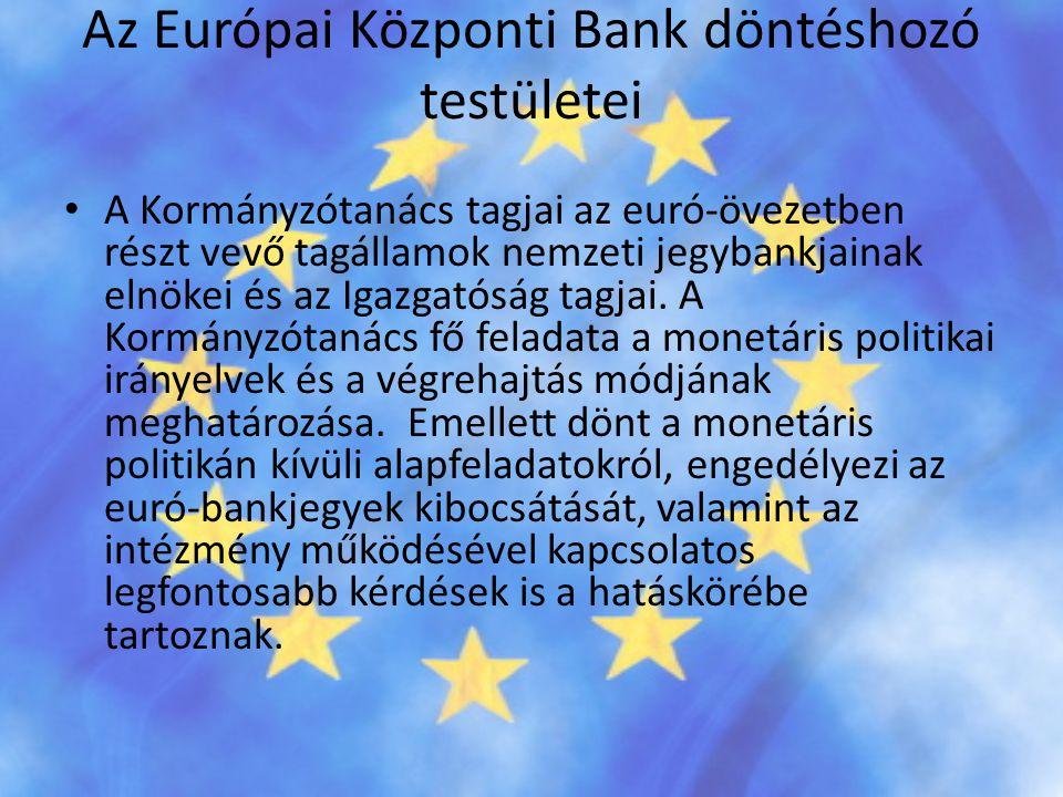 Az Európai Központi Bank döntéshozó testületei