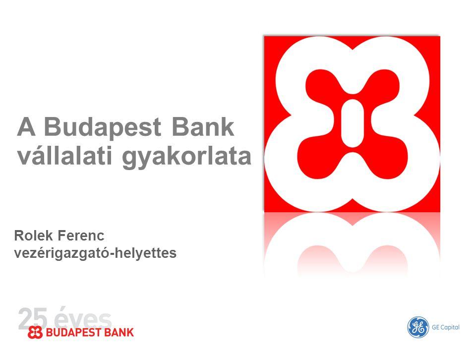 A Budapest Bank vállalati gyakorlata