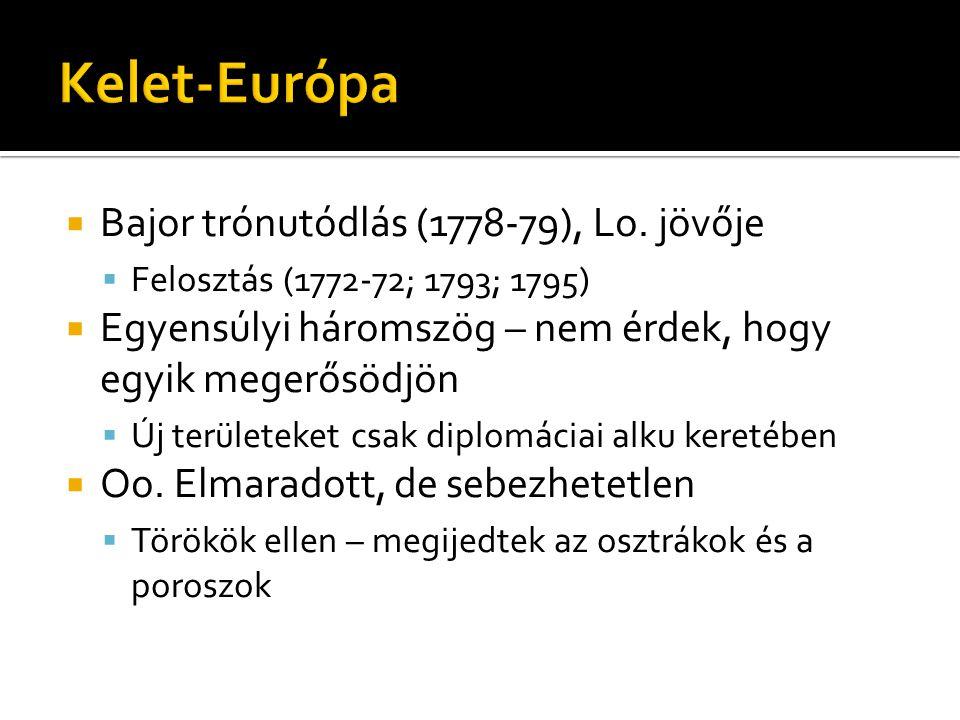 Kelet-Európa Bajor trónutódlás (1778-79), Lo. jövője