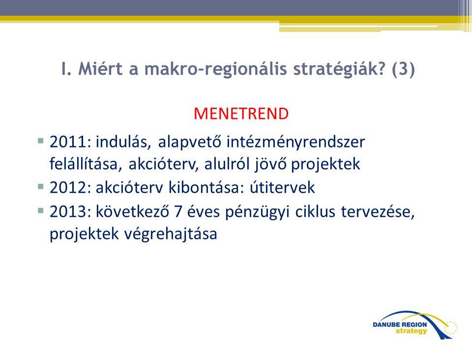 I. Miért a makro-regionális stratégiák (3)