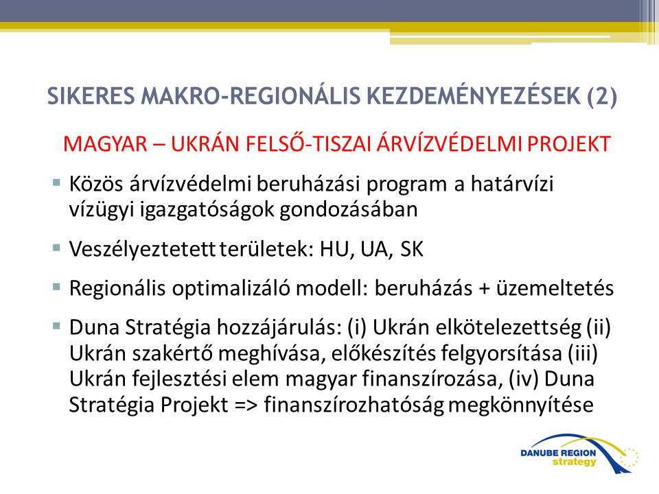 SIKERES MAKRO-REGIONÁLIS KEZDEMÉNYEZÉSEK (2)