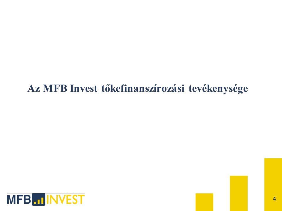 Az MFB Invest tőkefinanszírozási tevékenysége