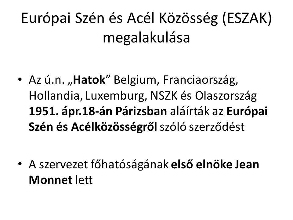 Európai Szén és Acél Közösség (ESZAK) megalakulása