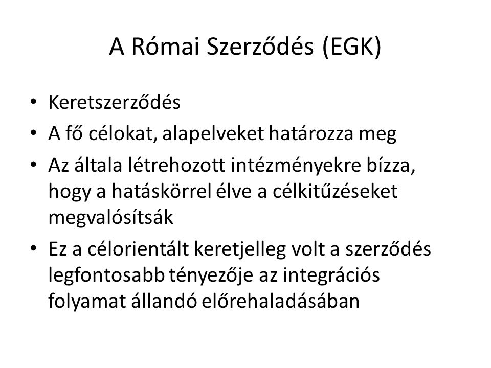 A Római Szerződés (EGK)