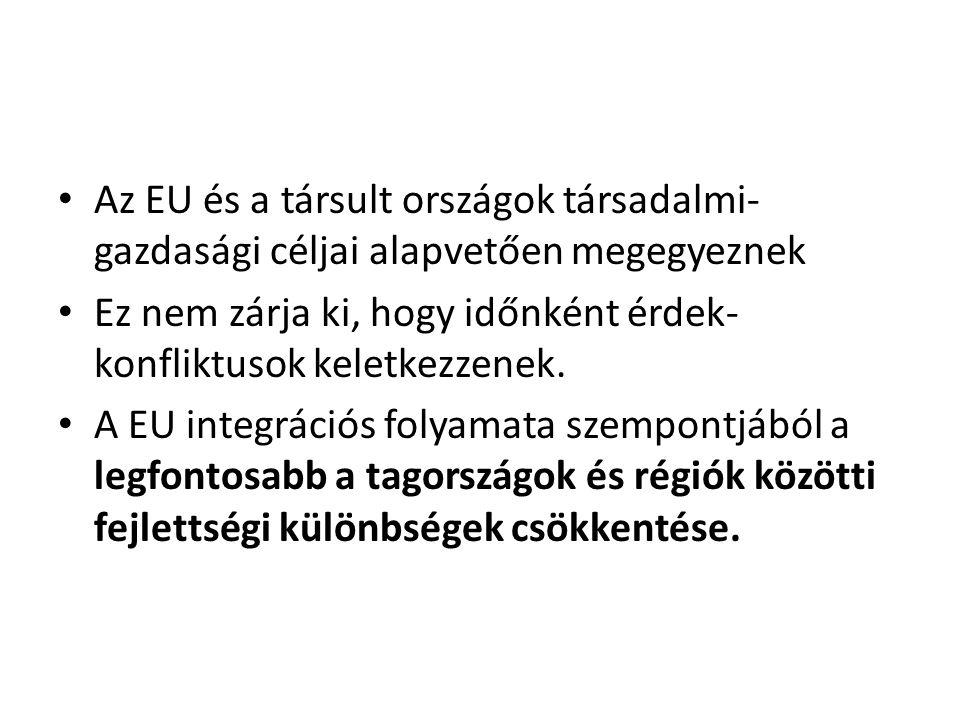 Az EU és a társult országok társadalmi-gazdasági céljai alapvetően megegyeznek