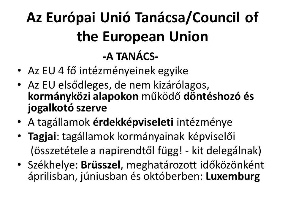 Az Európai Unió Tanácsa/Council of the European Union