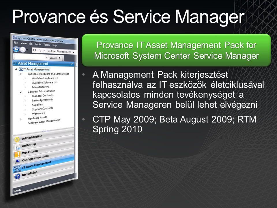 Provance és Service Manager