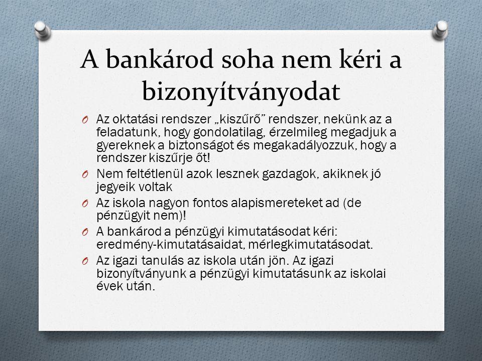 A bankárod soha nem kéri a bizonyítványodat