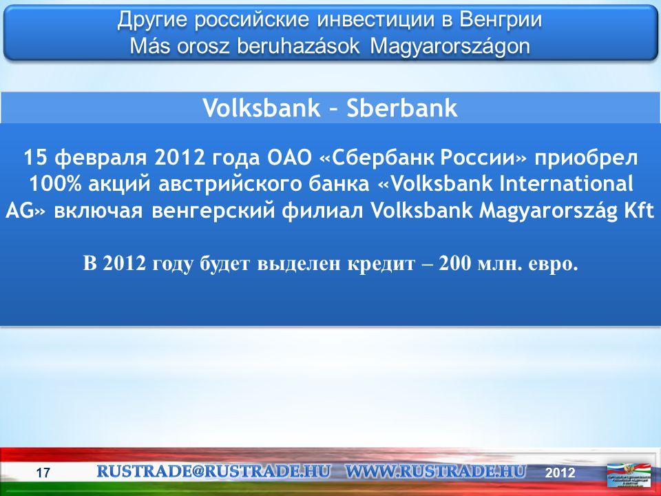 В 2012 году будет выделен кредит – 200 млн. евро.