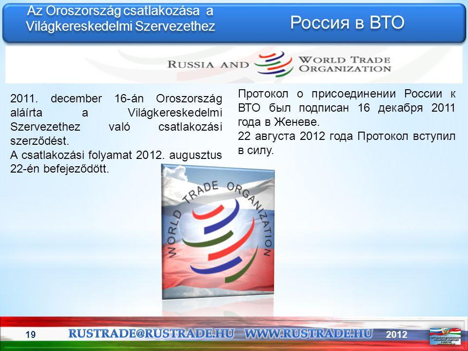Az Oroszország csatlakozása a Világkereskedelmi Szervezethez