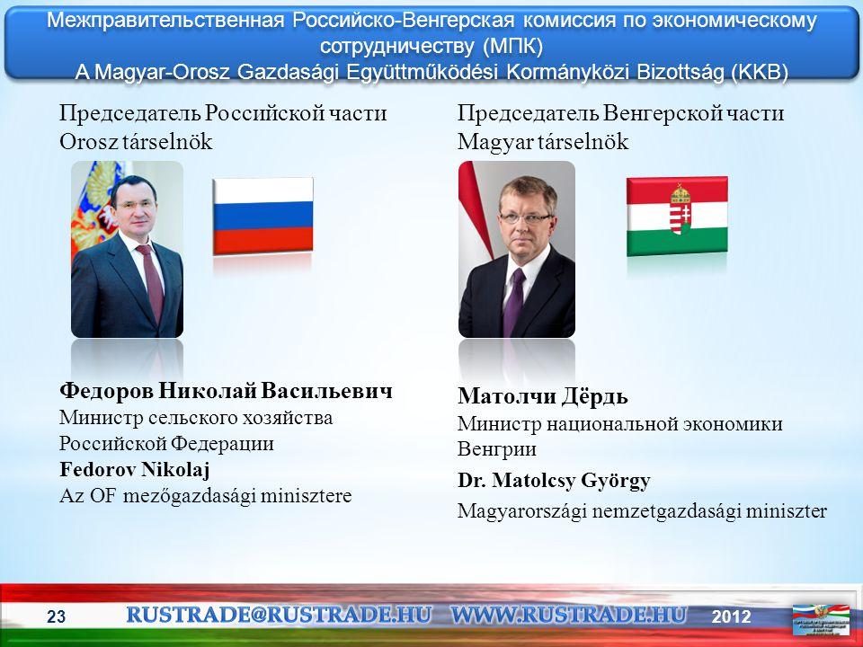 A Magyar-Orosz Gazdasági Együttműködési Kormányközi Bizottság (KKB)