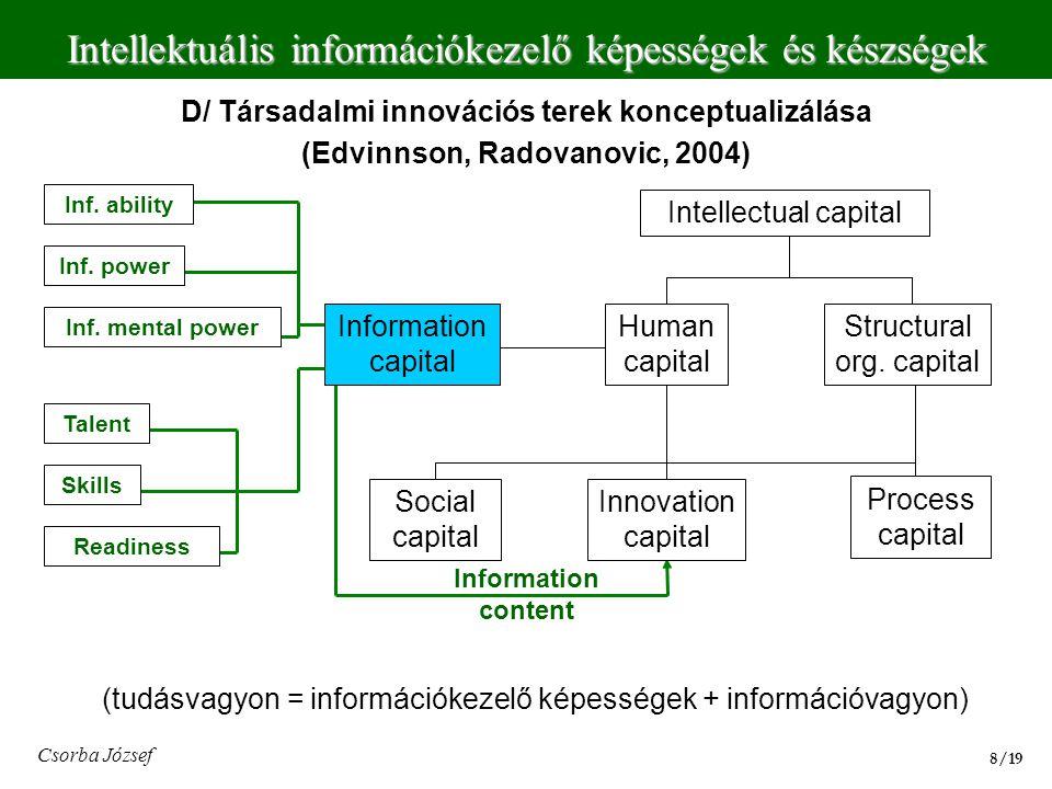 D/ Társadalmi innovációs terek konceptualizálása