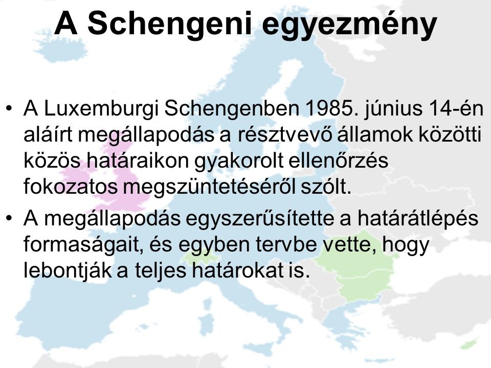A Schengeni egyezmény
