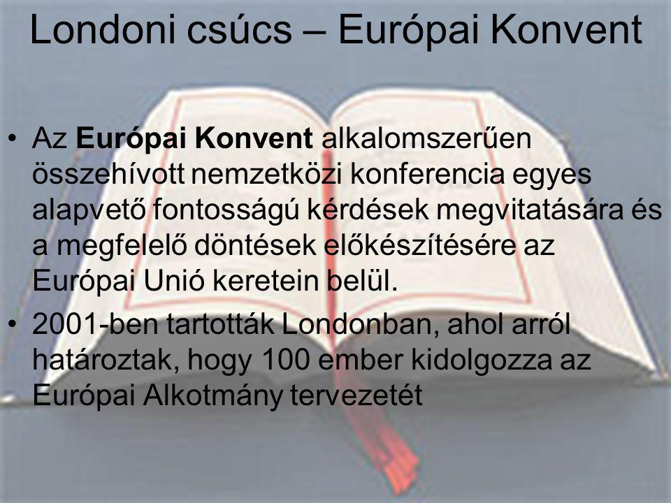 Londoni csúcs – Európai Konvent