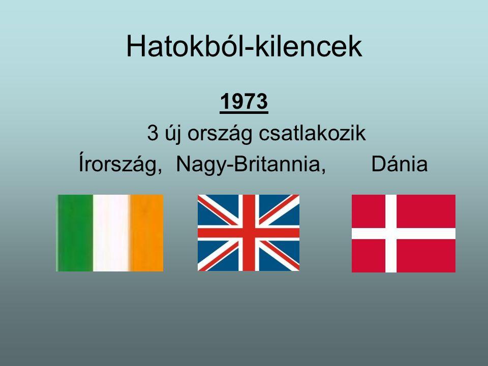 Hatokból-kilencek 1973 3 új ország csatlakozik